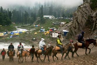 The National Green Tribunal also directed the Amarnath Shrine Board to submit a status report on compliance of directions issued by the Supreme Court. Photo: PTI