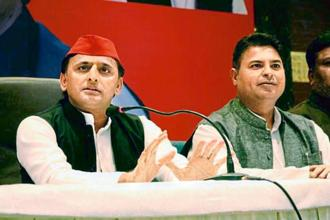 Samajwadi Party's Akhilesh Yadav during a press conference at Kanpur Status Club, in Lucknow, on Monday. Photo: Hindustan Times