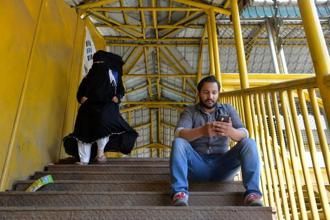 When social media sites and apps were banned in Srinagar this summer, people used virtual proxy networks to go online. Photo: AFP