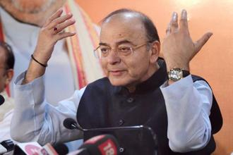 Finance minister Arun Jaitley. The government has set a fiscal deficit target of 3.2% of GDP for 2017-18 and 3% for the next fiscal. Photo: PTI