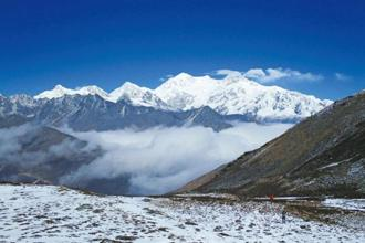 The Kanchenjunga massif. Photo: Whitemagicadventure.com