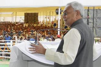 Nitish Kumar (in photo) and Sharad Yadav parted ways after the former decided to join hands with the BJP in July, triggering a battle for the control of the Janata Dal (United), or JDU. Photo: PTI