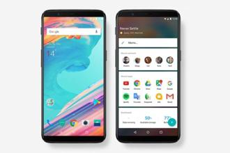 The OnePlus 5T has a 6-inch AMOLED display with very thin bezels around it.