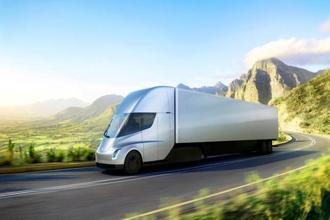 The Tesla Semi, the company's electric truck has been touted by Elon Musk to have a 500-mile range and last a million miles. Photo: Reuters