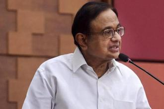 Former finance minister P. Chidambaram on Sunday targeted the Gujarat model of development, saying the state lags developed states in several human development index parameters. Photo: PTI
