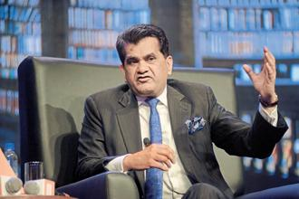The summit will focus on four key sectors of the economy—energy and infrastructure, digital economy and financial technology, health and life sciences and media and entertainment, said Niti Aayog CEO Amitabh Kant at a briefing in New Delhi. Photo: Abhijit Bhatlekar/Mint