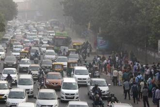 The Central Pollution Control Board's National Air Quality Index had Delhi in the 'very poor' zone with a score of 326 from 292 on Sunday and 298 on Saturday. Photo: AFP