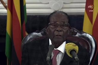 The ruling party's decision to dump Robert Mugabe came four days after the military placed him under house arrest and detained several of his closest allies. Photo: AFP
