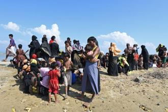Over 600,000 Rohingya Muslims have fled Myanmar's violence hit Rakhine state to neighbouring Bangladesh since August when the military intensified crackdown against alleged militant outfits of Rohingya Muslims. Photo: AFP