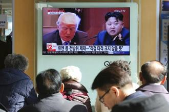 "President Donald Trump announced on Monday the US is putting North Korea's ""murderous regime"" on America's terrorism blacklist. Photo: AP"
