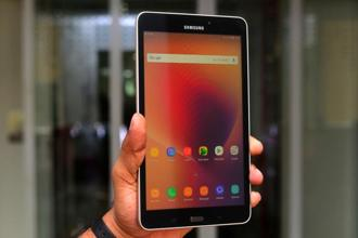 Samsung Galaxy Tab A (2017)is priced at Rs17,990. Photos: Ramesh Pathania/Mint