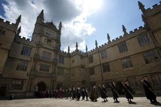 A file photo of Oxford University building. Photo: AFP