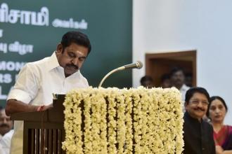 Tamil Nadu CM Edappadi K. Palaniswami welcomes EC's move to award the AIADMK symbol to EPS-OPS faction as the happiest day for the party. Photo: PTI