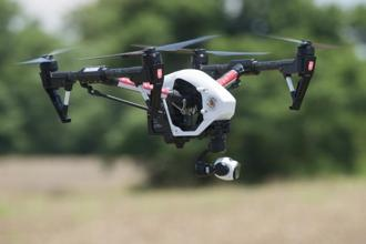 The drones were built to racing specifications and could easily go as fast as 129 kilometres per hour in a straight line. Photo: AFP