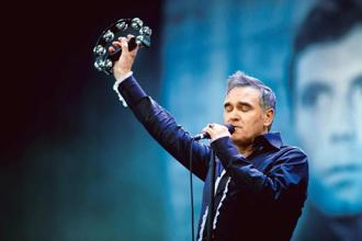 Morrissey at the 2011 Glastonbury Festival in England. Photo: Getty Images
