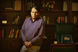 Commerce minister Suresh Prabhu hopes to use exports as a tool to create employment opportunities in India. Photo: Raj K Raj/HT