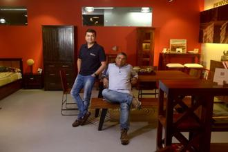 Ashish Shah (left) and Ambareesh Murty, co-founders of Pepperfry. Photo: Abhijit Bhatlekar/Mint