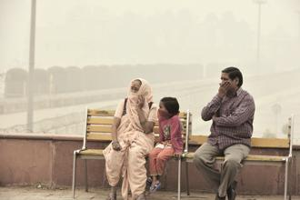 The report says every third child in Delhi, which is among the world's most polluted cities, has impaired lungs. Photo: HT