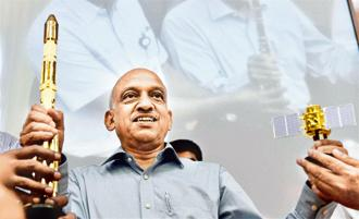 Isro chief AS Kiran Kumar says Chandrayaan-2 is going on track and the flight hardware are getting assembled and tested. File photo: PTI