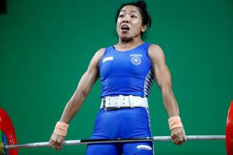 A file photo of weightlifter Mirabai Chanu. India won its first weightlifting World Championships gold medal since 1995 . Photo: Reuters