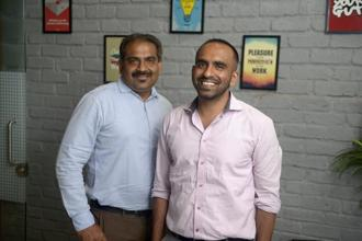 Rajiv Raj (left) and Abhishek Agarwal, co-founders of CreditVidya. Photo: Abhijit Bhatlekar/Mint