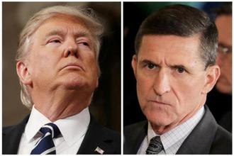 US President Donald Trump (L),National Security Advisor Michael Flynn. Photo: Reuters