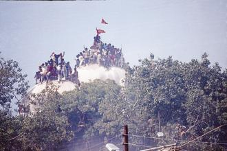The 25th anniversary of the demolition of the Babri Masjid falls on Wednesday. Photo: India Today