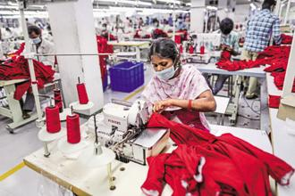 Some major sectors that would benefit from the incentives include ready-made garments and made-ups in the textile sector, leather and footwear articles. Photo: Bloomberg