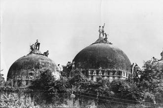 The celebration of the Babri Masjid demolition goes against every precept of a law-abiding nation and society. Photo: HT