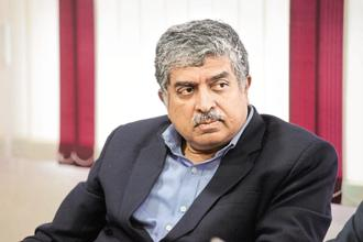 Infosys chairman Nandan Nilekani wants to ensure that every one of the 200,000 employees in the company has the opportunity to learn and re-invent themselves. Photo: Hemant Mishra/Mint