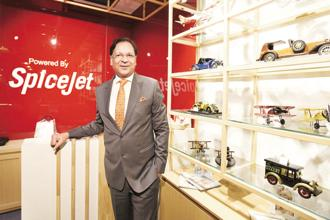 SpiceJet chairman Ajay Singh has nursed the airline from a near shutdown and a valuation of Rs650 crore to Rs8,300 crore. Photo: HT