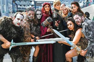 Comic Con fans dressed up as characters from the TV show 'Game of Thrones'. Photo: AFP