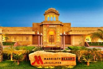 The Jaisalmer Marriott is a palace-style resort offering the chain's trademark hospitality amidst the Thar dunes.