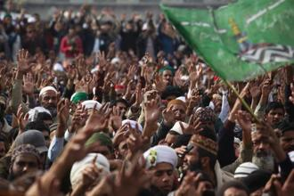 In Pakistan in late November, another pop-up political outfit besieged the capital city Islamabad, forcing the government to concede to all their demands, which included the harsh implementation of blasphemy laws. Photo: AP