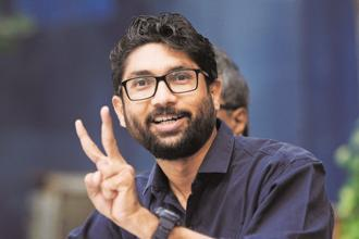 Dalit agitation leader Jignesh Mevani is contesting the Gujarat elections as an independent candidate from the reserved Vadgam constituency in North Gujarat. Photo: HT