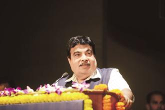 A file photo of Union shipping minister Nitin Gadkari. Photo: Ramesh Pathania/Mint