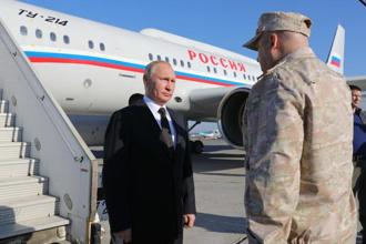 Vladimir Putin made the announcement during a surprise visit to Russia's Hmeymim air base in Syria. Photo: AP