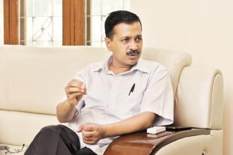 A file photo of Delhi chief minister Arvind Kejriwal. Photo: Mohd Zakir/HT