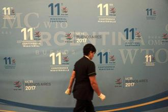The US has rejected any improvements proposed in the existing peace clause on food security issue at the WTO Buenos Aires meet. Photo: AFP