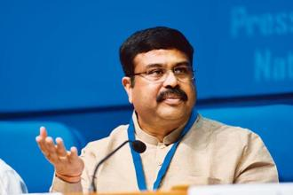 Oil minister Dharmendra Pradhan said there is a healthy collaboration between oil majors Indian Oil Corporation and Petronas of Malaysia. Photo: Pradeep Gaur/Mint