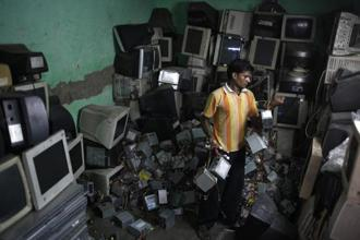 In 2016, e-waste was recorded at a staggering 44.7 million metric tonnes. Photo: HT