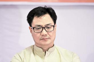 Junior home minister Kiren Rijiju. File photo: HT