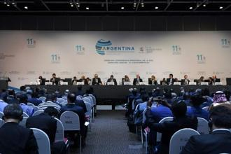 A view of the plenary meeting of the 11th ministerial conference of the World Trade Organization in Buenos Aires, Argentina. Photo: AFP