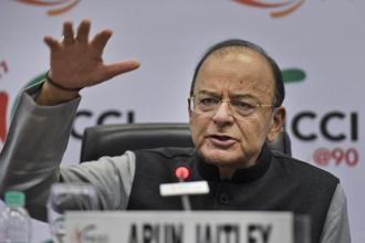 Finance minister Arun Jaitley at the annual meeting of Federation of Indian Chambers of Commerce and Industry. Photo: PTI