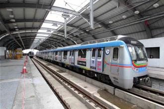 The Hyderabad Metro Rail was inaugurated on 28 November by Prime Minister Narendra Modi. Photo: PTI