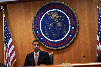 FCC chairman Ajit Pai. The new rules will take effect 60 days after being published in the Federal Register that chronicles regulatory activity, the FCC said. Photo: AFP