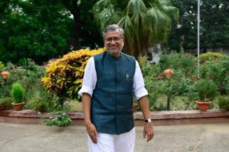 Sushil Modi also hinted at the reduction of tax slabs going forward after tax collection stabilises. Photo: Pradeep Gaur/Mint