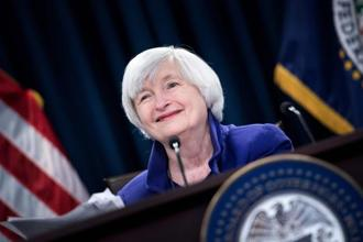 Federal Reserve Board chair Janet Yellen during a briefing at the US Federal Reserve on Wednesday in Washington, DC. Photo: AFP