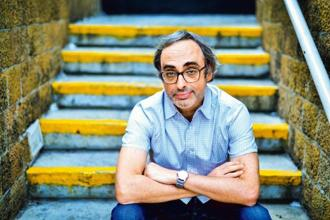 Gary Shteyngart at National Centre for the Performing Arts, Mumbai. Photo: Aniruddha Chowdhury/Mint