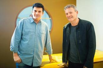 Siddharth Roy Kapur (left) and Chris Brancato. Photo: Nayan Shah